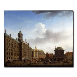 View of the Town Hall, the Nieuwe Kerk and the Waag Исаак Квотер (Isaac Ouwater)