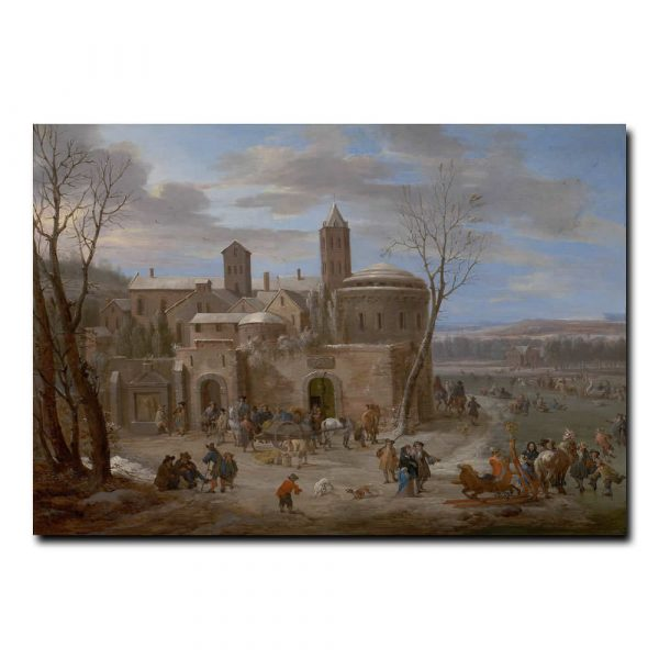 A winter landscape with figures Боут Питер (Pieter Bout)