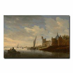Речной пейзаж с городской стеной Саломон ван Рейсдал (Salomon van Ruysdael)