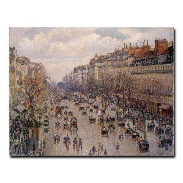 Бульвар Монмартр в Париже Камиль Писсарро (Camille Pissarro)
