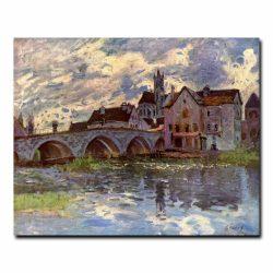 Мост в Море-сюр-Луан Альфред Сислей (Alfred Sisley)