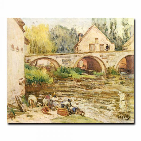 Прачки в Море-сюр-Луэн Альфред Сислей (Alfred Sisley)