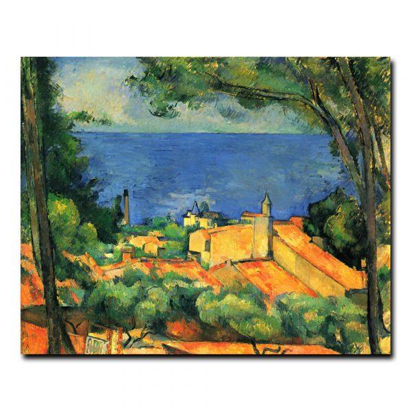 Эстак с красными крышами. Сезанн Поль (Paul Cezanne)