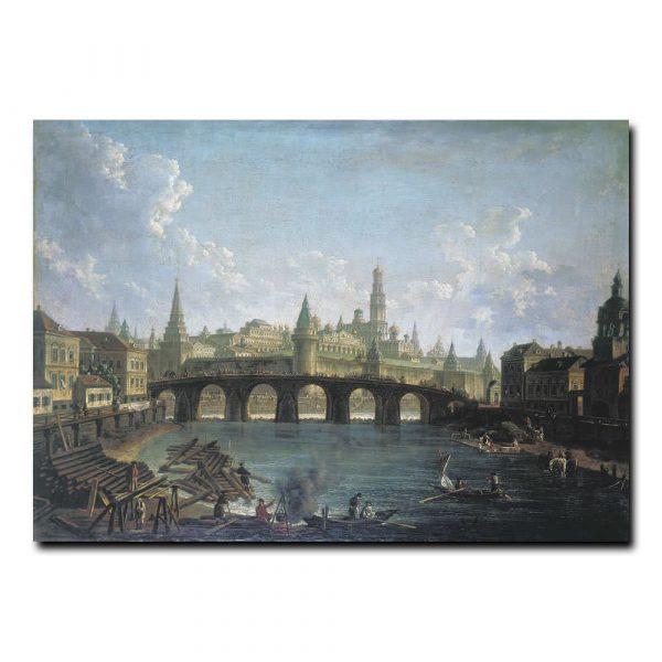 Вид на Московский Кремль со стороны Каменного моста. Алексеев Фёдор Яковлевич