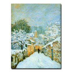 Снег в Лувесьенне. Альфред Сислей (Alfred Sisley)