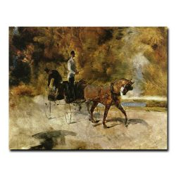 Одноконный экипаж. Анри де Тулуз-Лотрек (Henri de Toulouse-Lautrec)