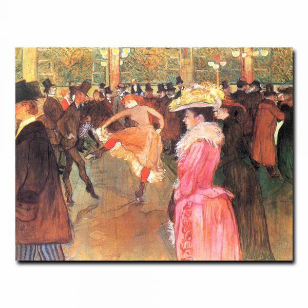 Танец в Мулен Руж. Анри де Тулуз-Лотрек (Henri de Toulouse-Lautrec)