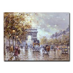 Триумфальная арка (A view of the Arc de Triomphe). Антуан Бланшар (Antoine Blanchard)