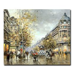 Парижский бульвар (A Parisian boulevard). Антуан Бланшар (Antoine Blanchard)