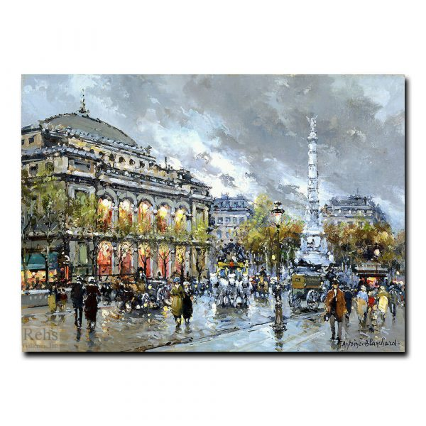 Площадь Шатле (Place du Chatelet, Paris). Антуан Бланшар (Antoine Blanchard)