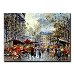 Цветочный рынок на Маделейн. Антуан Бланшар (Antoine Blanchard)