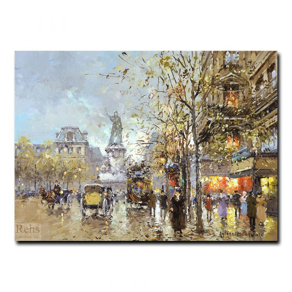Площадь Республики (La Place de la Republique). Антуан Бланшар (Antoine Blanchard)