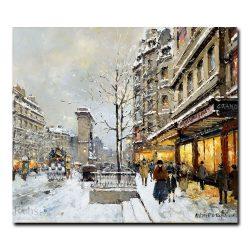 Ворота Сен-Дени зимой. Антуан Бланшар (Antoine Blanchard)