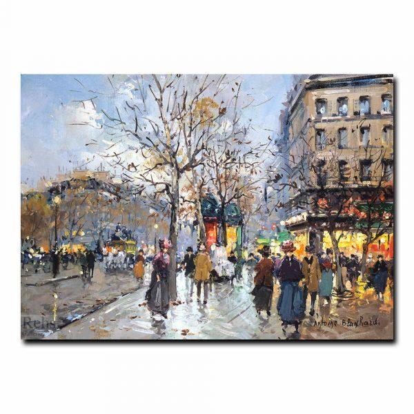 Парижская улица (A street in Paris). Антуан Бланшар (Antoine Blanchard)