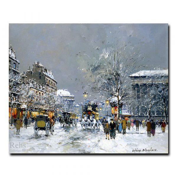 Площадь Мадлен зимой. Антуан Бланшар (Antoine Blanchard)
