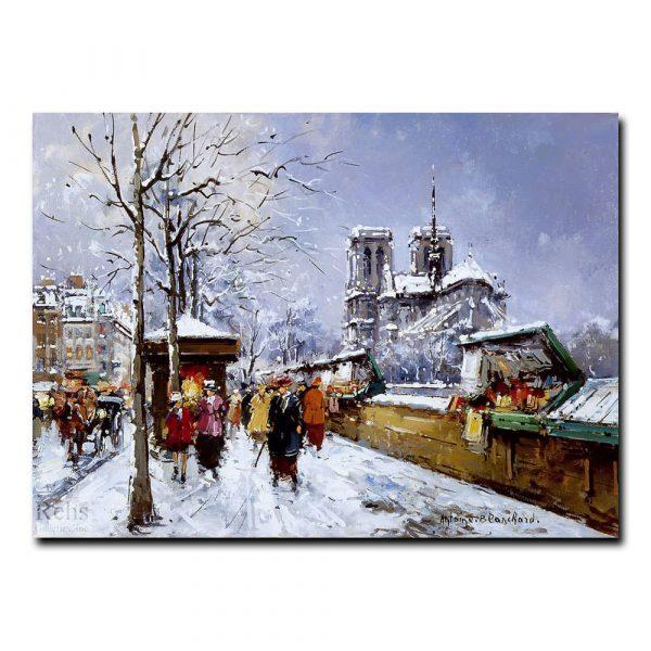 Нотр-Дам зимой. Антуан Бланшар (Antoine Blanchard)