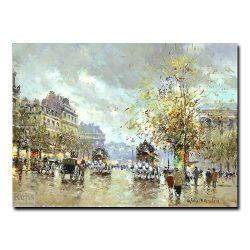 Вид на бульвар Мадлен. Антуан Бланшар (Antoine Blanchard)