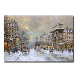Ворота Сен-Мартен зимой. Антуан Бланшар (Antoine Blanchard)
