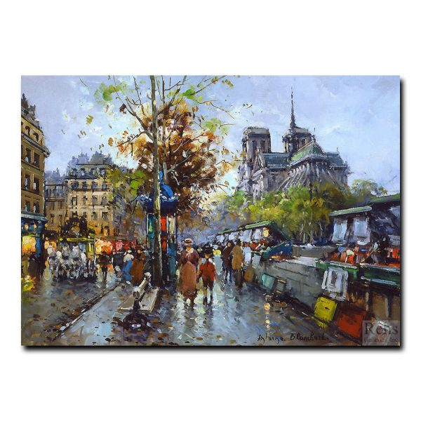 Букинистический рынок, Нотр-Дам. Антуан Бланшар (Antoine Blanchard)