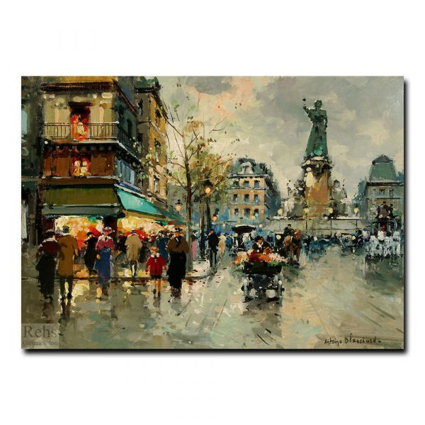 Площадь Республики (A view of Place de la Republique). Антуан Бланшар (Antoine Blanchard)