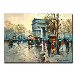 Вид на Триумфальную арку (Arc de Triomphe). Антуан Бланшар (Antoine Blanchard)