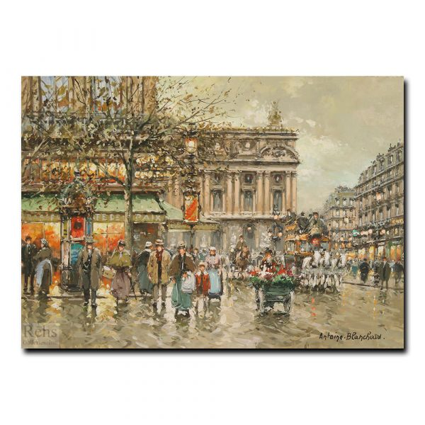 Парижская опера и кафе Де ла Пэ. Антуан Бланшар (Antoine Blanchard)