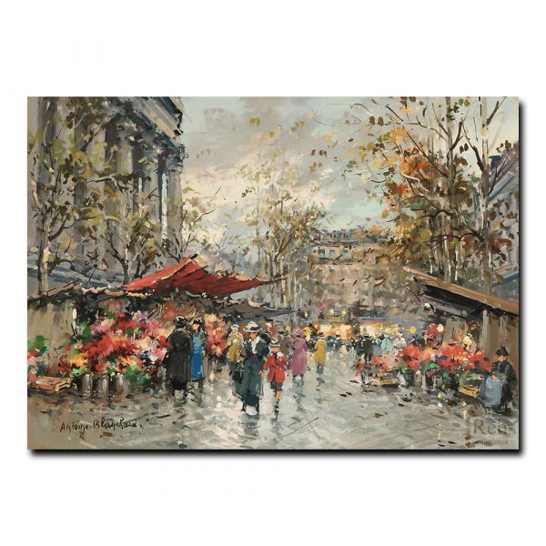 Цветочный рынок Маделейн. Антуан Бланшар (Antoine Blanchard)