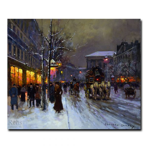 Бульвар-де-ла-Маделейн зимой. Эдуард Леон Кортес (Edouard Leon Cortes)