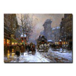 Бульвар-де-ла-Madeleine зимой (Boulevard de la Madeleine winter). Эдуард Леон Кортес (Edouard Leon Cortes)