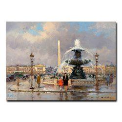 Фонтан на площади Де Ла Конкорд. Эдуард Леон Кортес (Edouard Leon Cortes)