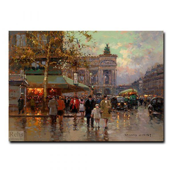 Площадь Де Лопера, Париж. Эдуард Леон Кортес (Edouard Leon Cortes)