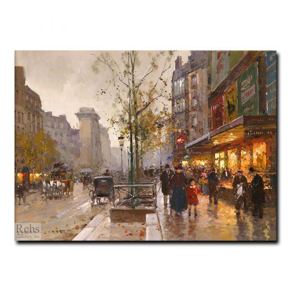 Улица Денис, Париж. Эдуард Леон Кортес (Edouard Leon Cortes)
