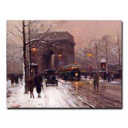 Триумфальная арка, Париж, зима. Эдуард Леон Кортес (Edouard Leon Cortes)