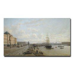 Вид набережной Невы около Академии художеств в летний день. Верещагин Петр Петрович