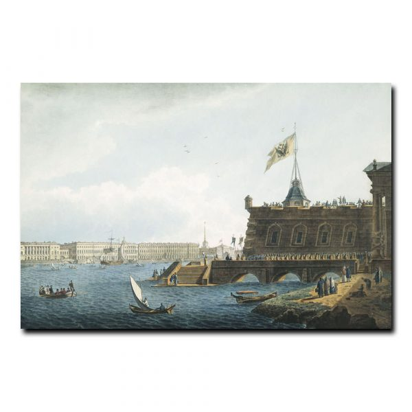 Вид на Неву со стороны Петропавловской крепости. Галактионов Степан Филиппович