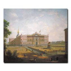 Вид на Михайловский замок и площадь Коннетабль. Алексеев Фёдор Яковлевич