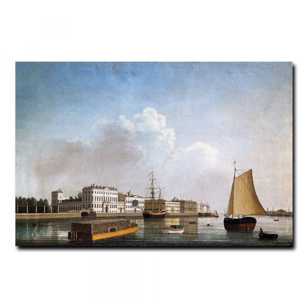 Вид Невы у Дворцовой набережной. Барт Иоганн Вильгельм
