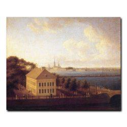 Вид на Неву и летний дворец Петра I. Андрей Ефимович Мартынов