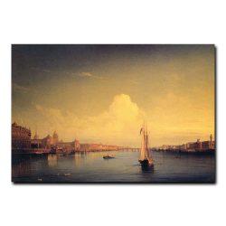 Петербург при закате солнца. Алексей Петрович Боголюбов