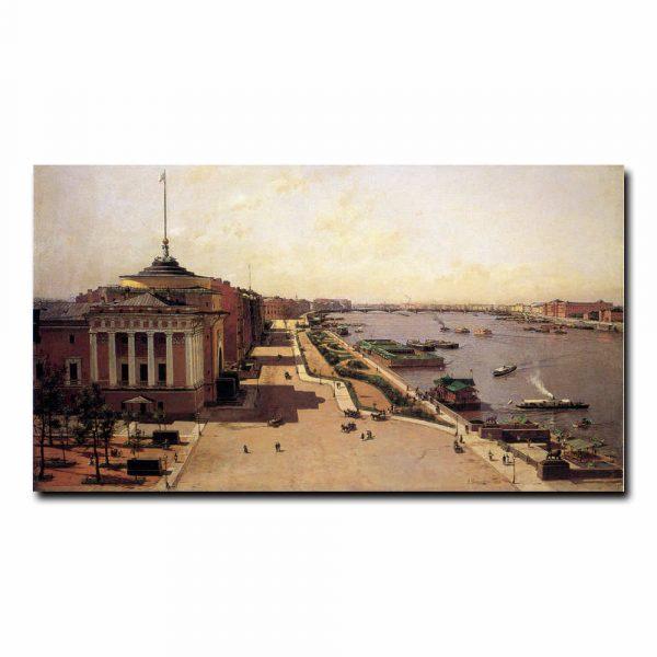 Вид на Неву от Зимнего дворца Беггров Александр Карлович
