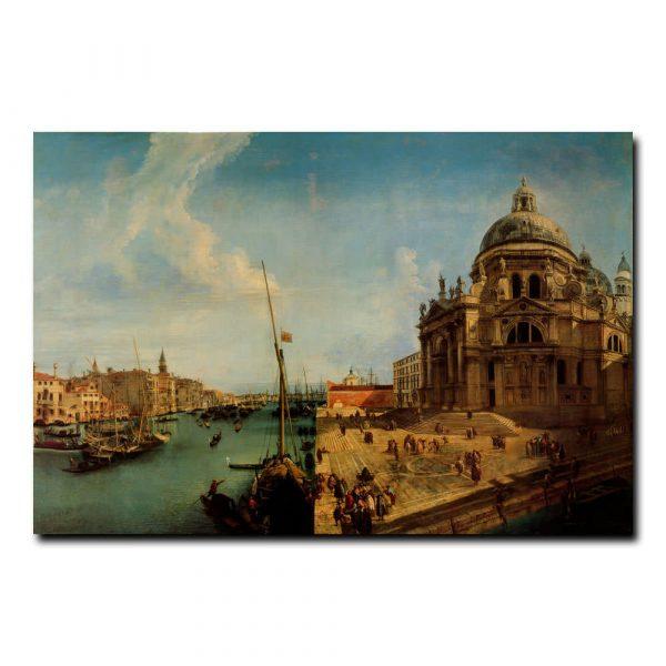 Вид на Большой канал и церковь Санта-Мария Мариески Микеле (Michele Marieschi)