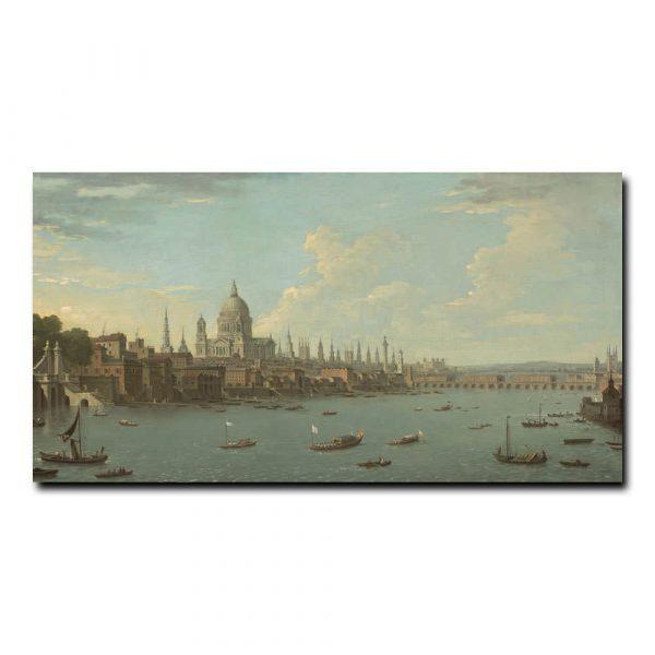 Вид Лондона и Темзы с Святого Павла Жоли Антонио (Antonio Joli)
