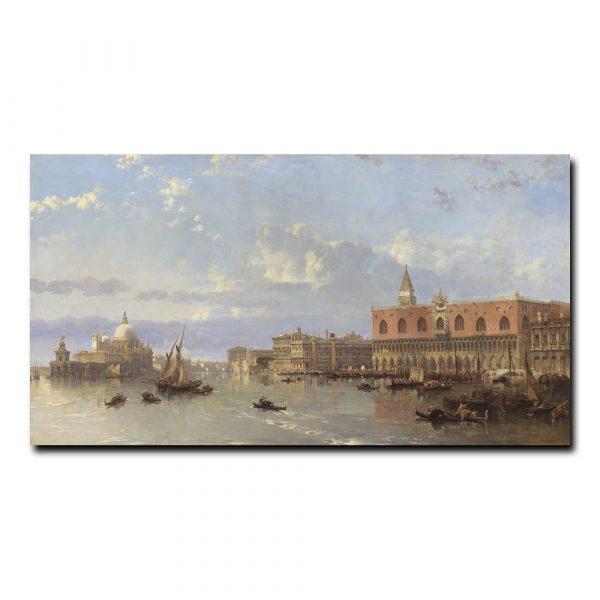 Вид на дворец Дожей, Венеция Робертс Дэвид (David Roberts)