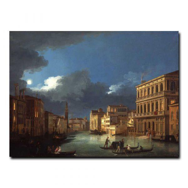 Вид на Большой канал в лунном свете Бисон Джузеппе Бернардино (Giuseppe Bernardino Bison)