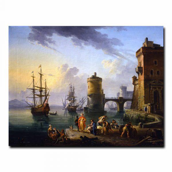 Турецкие купцы на пристани Лаллеман Жан-Батист (Jean-Baptiste Lallemand)